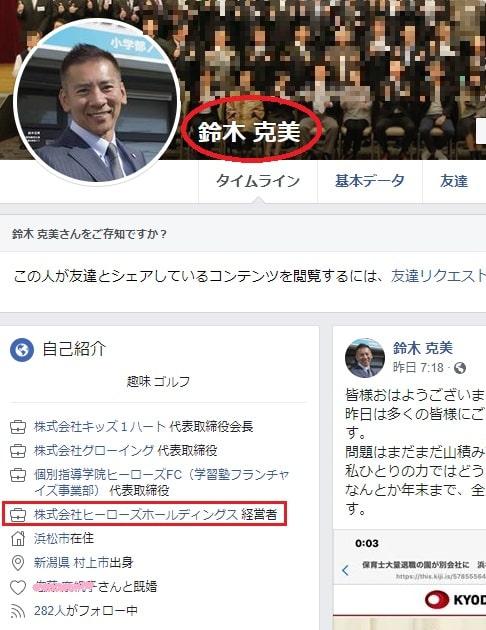 鈴木克美のFacebook