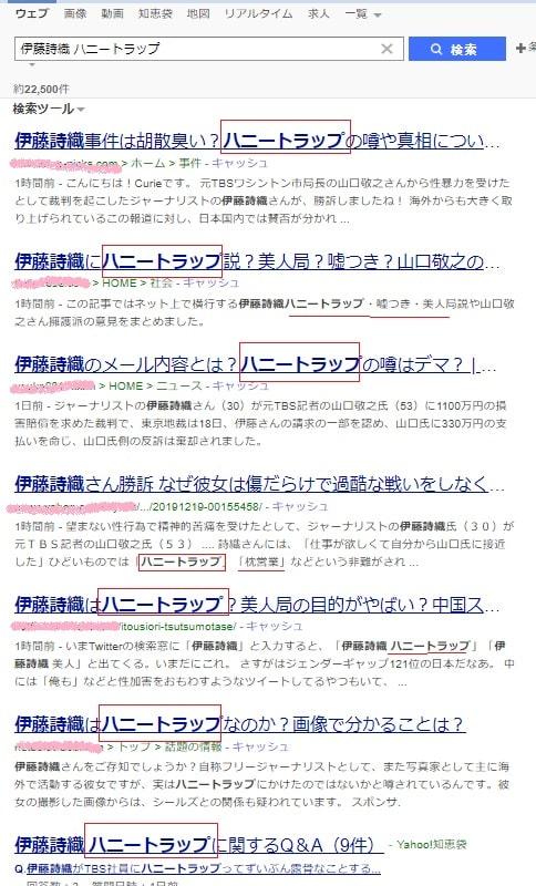 伊藤詩織 ハニートラップ