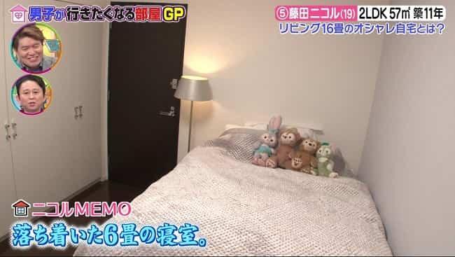 藤田ニコル 自宅のベッド