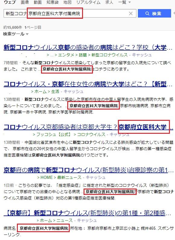 新型コロナウイルスの感染者が京都市